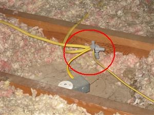 how to inspect your attic rh home inspections knoji com Splicing Electrical Wires Junction Box Junction Box Code
